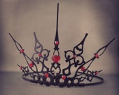 Gothique Hearts - Gothic Tiara Queen of Hearts Crown Queen of Hearts Tiara Queen of  Hearts Cosplay Filigree Crown Halloween Costume