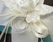 Two Faux Rings for Your Ring Pillow in Gold or Silver, Faux Wedding Bands