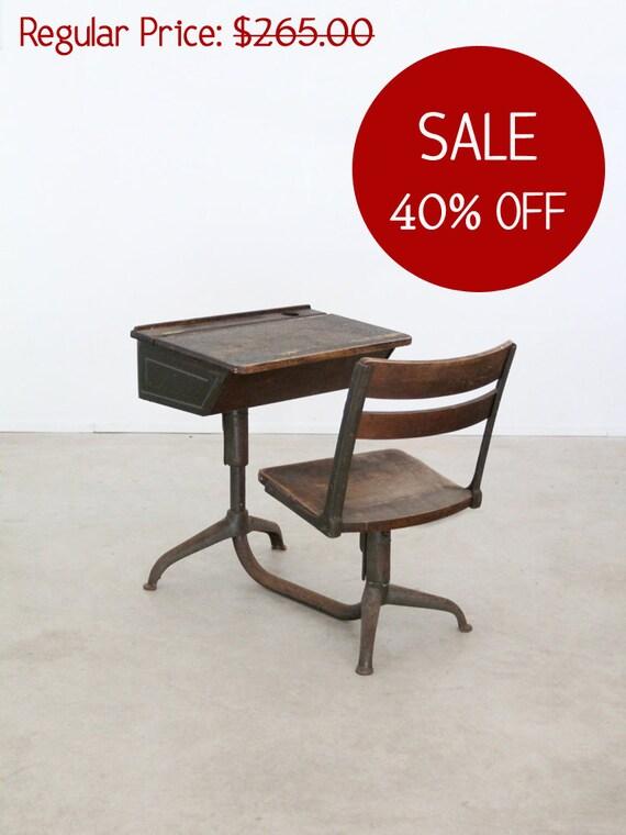 Sale Vintage School Desk 1940s Kids Desk