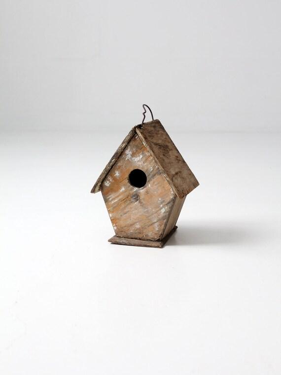 Reserve Vintage Bird House Rustic Wood Birdhouse Decorative
