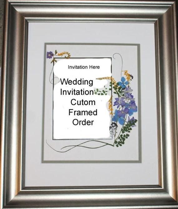 Wedding Invitation Pressed Flower Framed Wedding Gift Keepsake