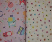 Benartex Googly Monsters and Buttons - BTY Cotton Fabric - Choose your cut and pattern
