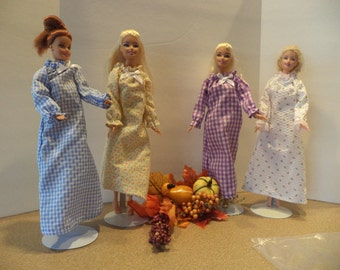 Nightgown, Peasant Style, Choice of 4 Prints for 11 1/2 inch dolls, Ready to Ship
