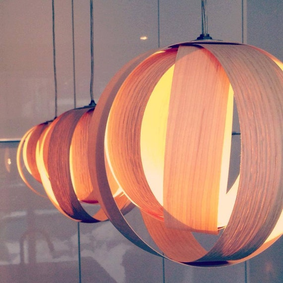 Items Similar To Boule 9 Wood Veneer Lamp On Etsy