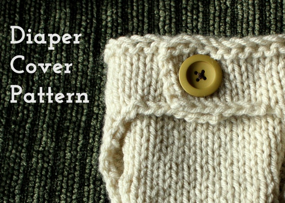 Newborn Diaper Cover PDF knitting PATTERN by BrindyRae on Etsy