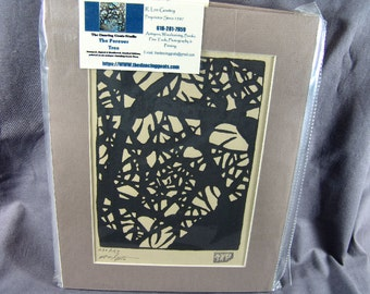 The Forever Tree Wood Block Print 8 by 10