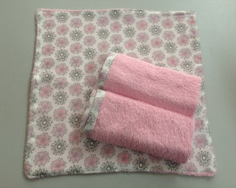 Baby Wash Cloth Set of 3_Pink Flower