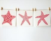 ORIGINAL Beach Art - Starfish - Coral
