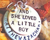 and she loved a little boy,Valentine Gift, Mothers Day, necklace, mother necklace, gifts for mom, personalized jewelry, shell silverstein