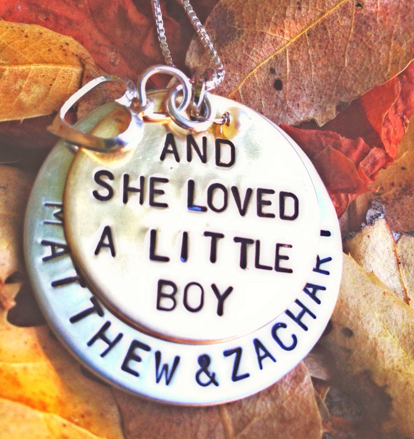 and she loved a little boy necklace mother necklace gifts