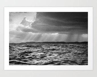 Black White Seascape Photography Print