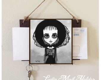 Lydia Deetz Book Of The Recently Deceased Mail Holder and Key Rack Home Decor