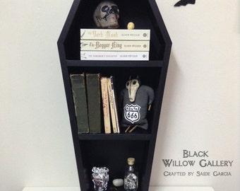 BLACK COFFIN Book Shelf Modern