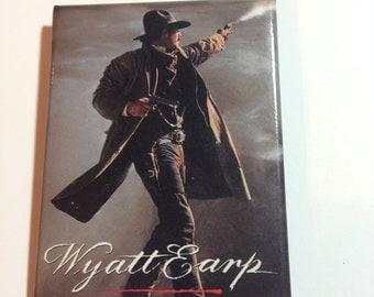 Wyatt Earp Pinback,Vintage cowboy pinback,movie pinback Button,Souvenir,Warner Brothers souvenir