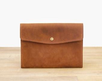 iPad Air Case / Sleeve - Handmade Leather in Brown