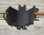 Halloween Bat Hair Slide Toy Decoration Barrette Bun Holder, Great for Costume LARP Cosplay Goth Halloween