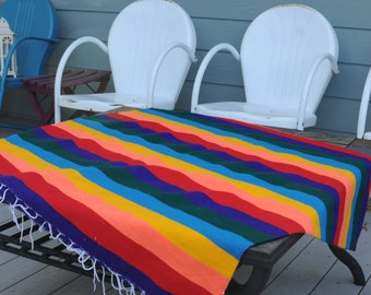 SALEVintage Mexican Serape/Beautiful Colored Blanket/Made in Mexico