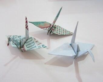 34 Winter Wonderland Origami Cranes