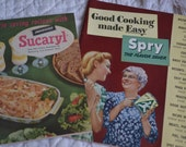 Set of Two Vintage Cookbook Advertising Pamphlets Spry Shortening and Sucaryl 1930s and 1940s
