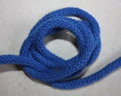 5 mm BLUE Cotton Rope = 5 Yards = 4.57 Meters of Elegant Cotton Braided Cord - Bulky Yarn - Super Bulky Yarn - Macrame Cotton Cord