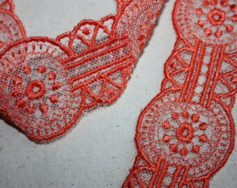 5 Yards = 4.57 Meters of Beautiful Embroidery Lace trim to altered your couture designs