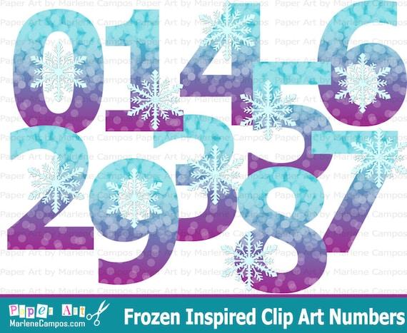 Frozen Clip art Numbers, Frozen birthday, Frozen Party, Frozen ...
