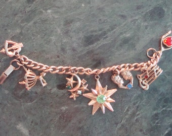 Vintage charm bracelet Dreams and Aspirations