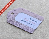 RESERVED for Veronica - Vintage Map Wedding Favor Tag - Luggage Tag Destination Travel - Bridal Baby Shower Gift Tag