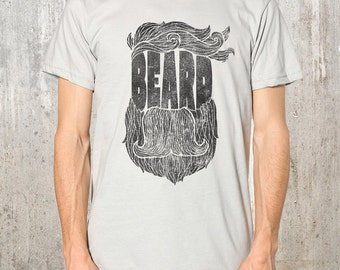 Awesome Beard T-Shirt - Men's Screen Printed American Apparel T-Shirt - Available in S, M, L, XL and 2XL