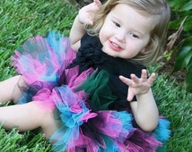 Multi Color Rock Star Birthday, Pageant, Costume Tulle Tutu for Girls