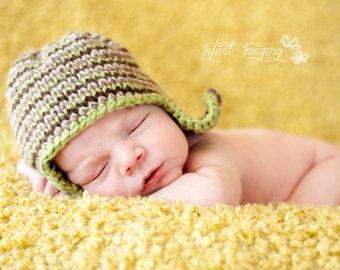 Camo Hat Knit Pattern - Newborn, Baby, Toddler, Child Sizes - Fall Boy Pattern - Instant Digital Download
