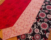 Table Topper Table Runner Mat Placemat  Scarf Assorted colors Variety of Patterns. Classic Black White Red. Designer Decorate 42""