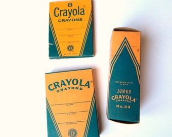 Vintage Crayola - Vintage Crayons - NOS Crayola - Original Box Crayons - Back to School