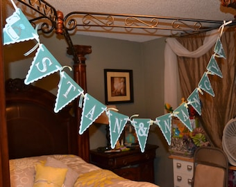 Tiffany and Co. Inspired Bridal Shower Banner, Tiffany Blue Wedding Banner