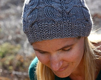 Knitting Pattern PDF - Cabled Asher Hat for Children & Adults