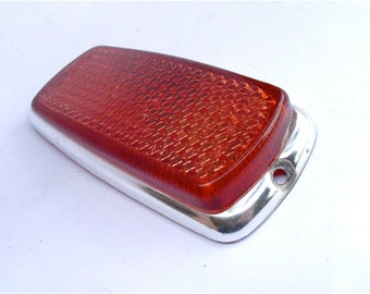 Vintage Red Rear Side Marker UL0 302 10 20 European Car Reflector Mercedes Benz Bmw 1960s 1970s Right Left Light Lens Lamp SAE P1A 69