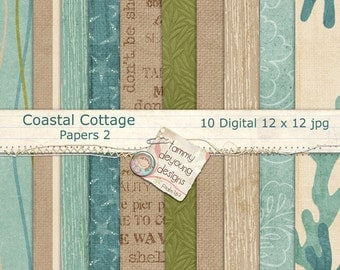 Beach Digital Papers ocean, sea shore sand colors for invitations, weddings, scrapbooks, cards, home decor, photocards, paper crafts!