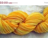 50% Off Sale 100 Percent Merino Sock Yarn Beautiful 2 ply Sunny Side Up