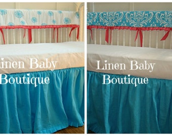 Popular Items For Coral Crib Set On Etsy