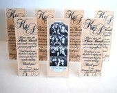 Photo Booth Acrylic Frames Party Favor Summer Wedding theme Navy and Tan