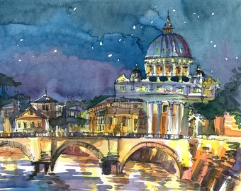 Custom Painting- Original watercolor painting based on your photographs, choose your size