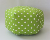 "18"" Ottoman Pouf Floor Pillow Polka Dot"