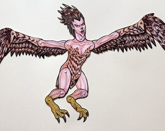 Harpy Articulated Paper Doll