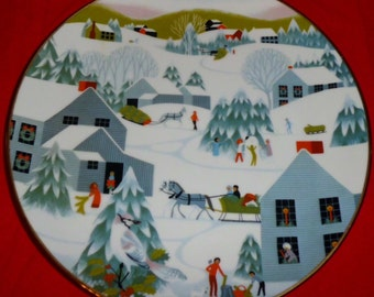 1982 Betsey Bates Home For Christmas Collector's Plate