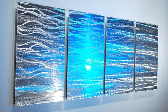 Metal art LED Halogen colour light reflect silver Modern Original 3D Video Abstract elegant sculpture office home Wall decor hand made  Lubo