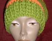 Sweet Peas and Carrots....Stripped Slouch Hat