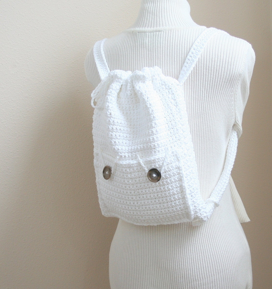 PDF DIGITAL PATTERN:Crochet Backpack Pattern,Drawstring Backpack ...