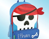 Backpack - Personalized and Embroidered - Sidekick Backpack - PIRATE