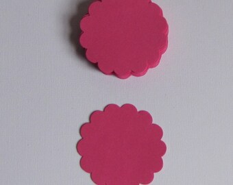 """25  Pink  Journal Tags, Embellishments, Price Tags,Scrapbooking-2 1/4""""-Scalloped Edges"""