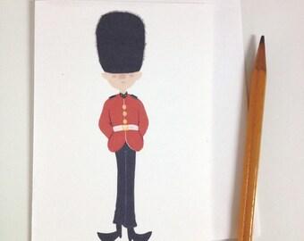 British Royal Guard note card